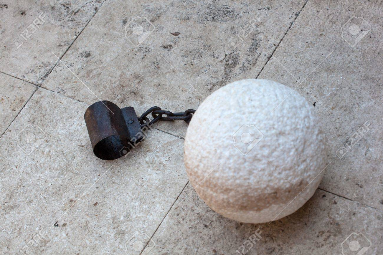a prisoner ball and chain Stock Photo - 17216550