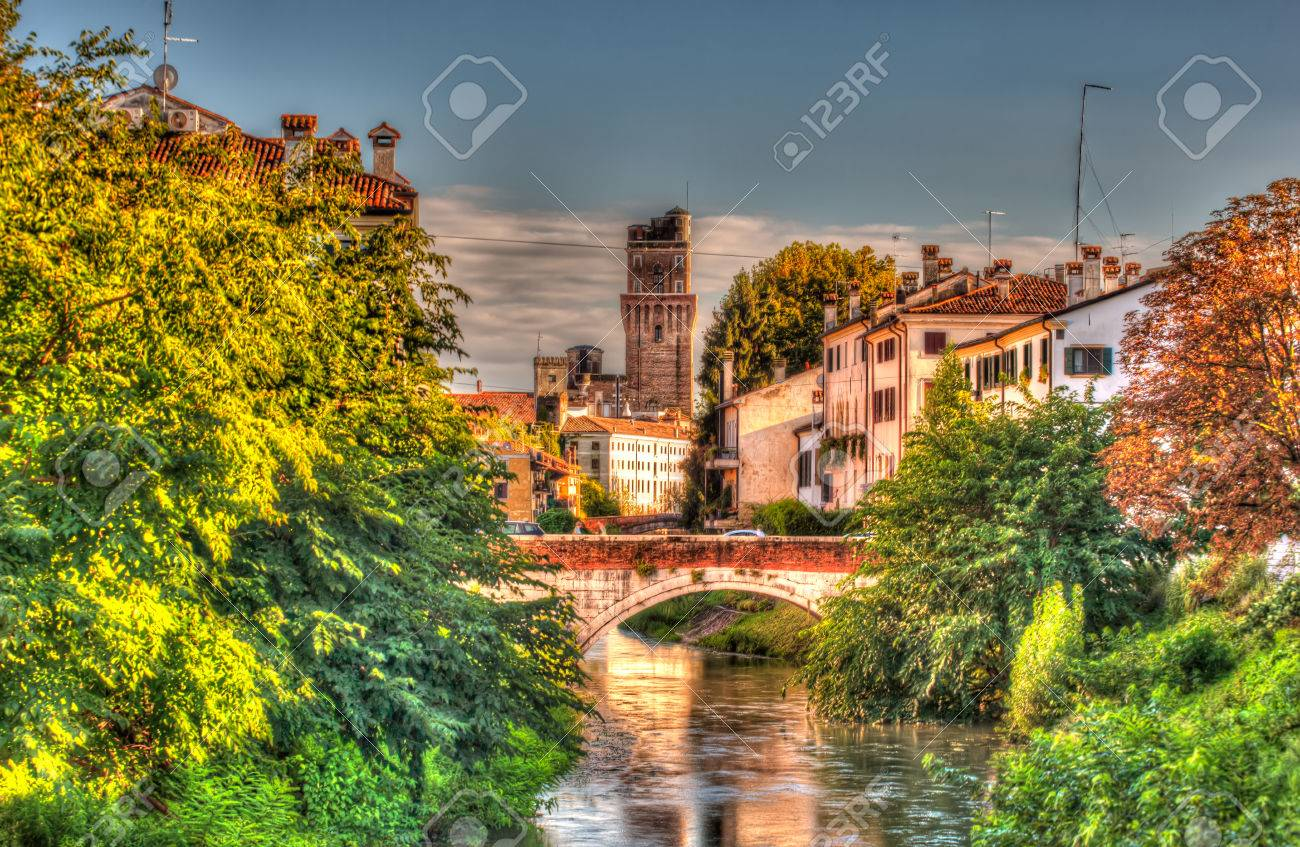 9c6c9534f2 View Of Padova Bridge In Italy Stock Photo, Picture And Royalty Free ...