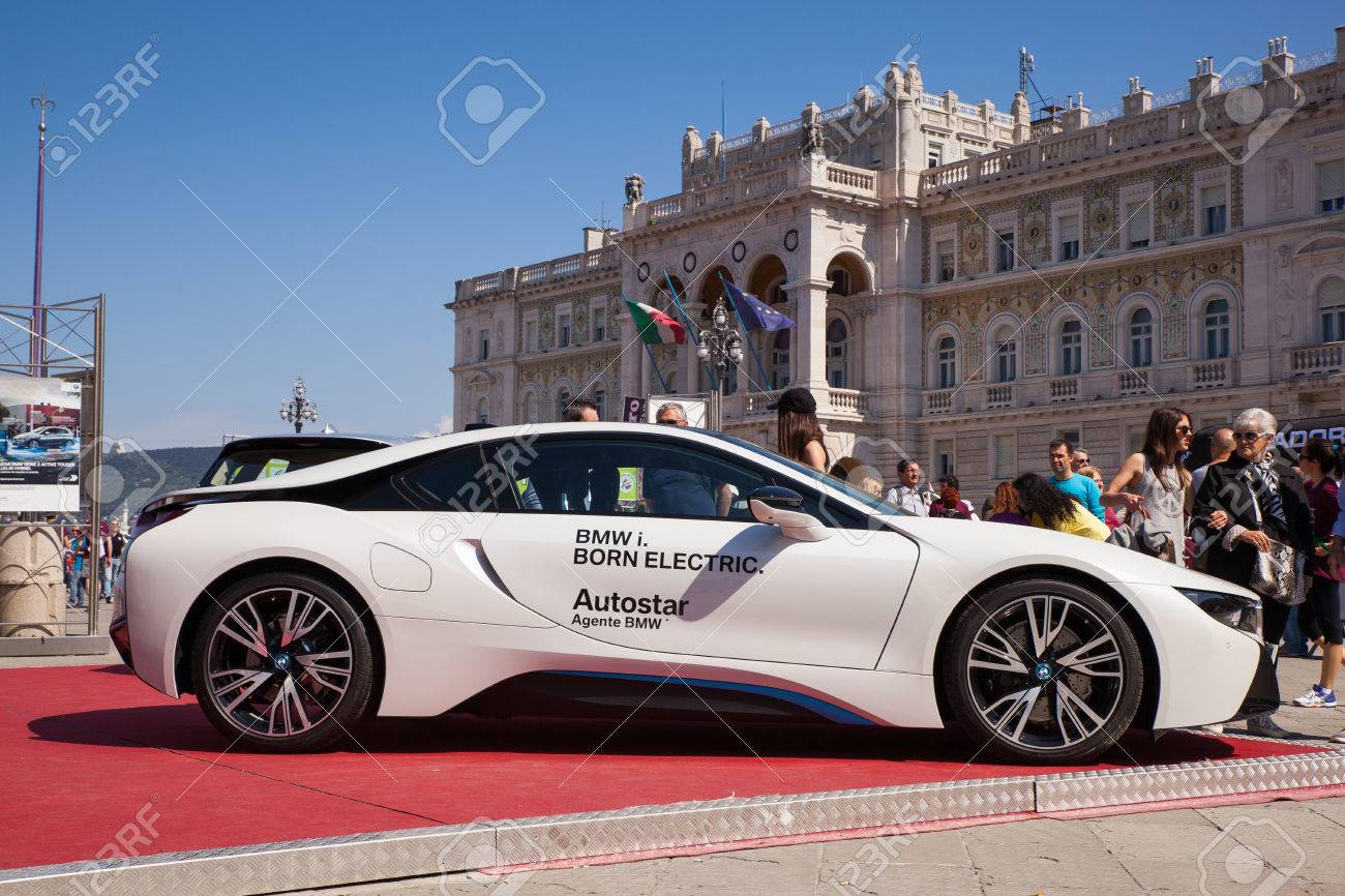 Trieste Italy May 08 Bmw I8 Electric Car Exposed During