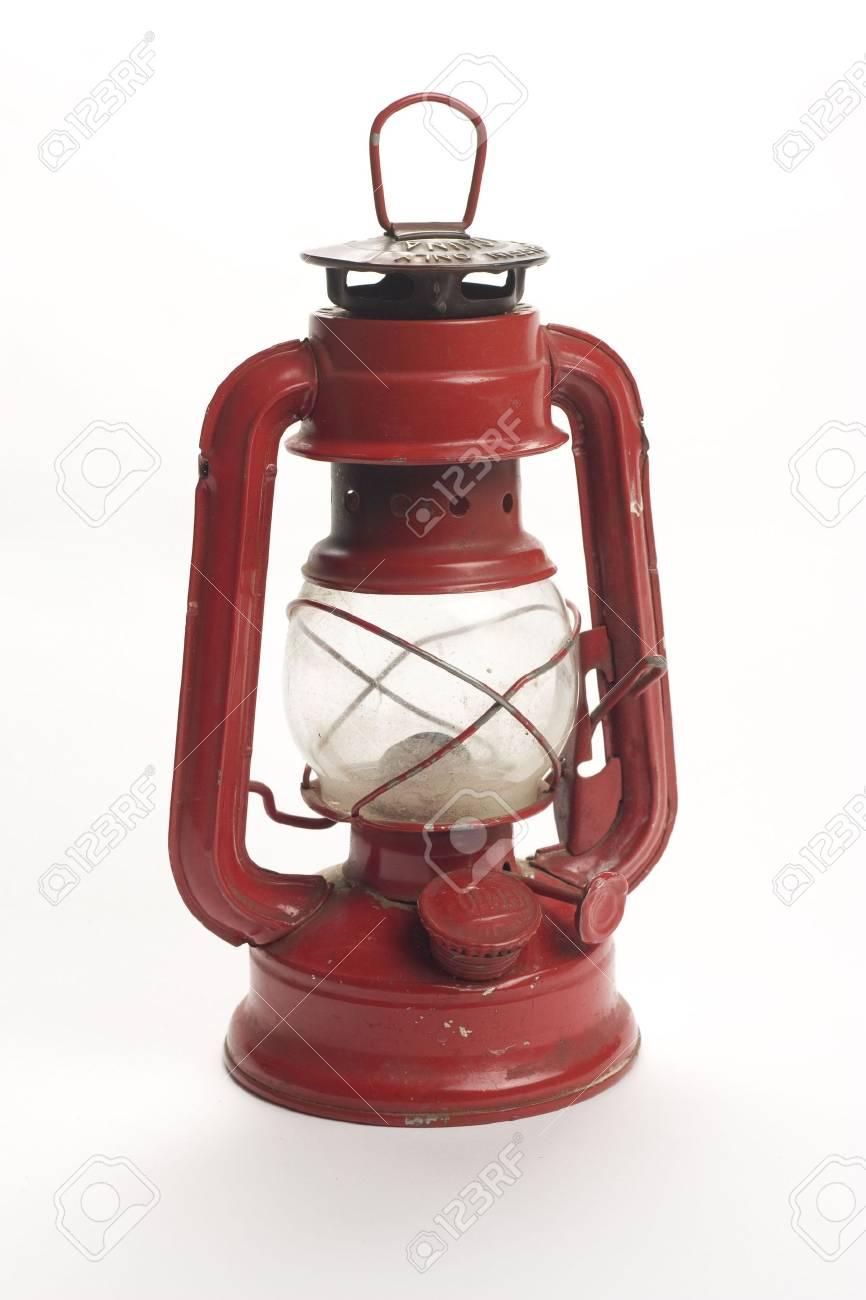 old kerosene lamp isolated over white background Stock Photo - 6650541