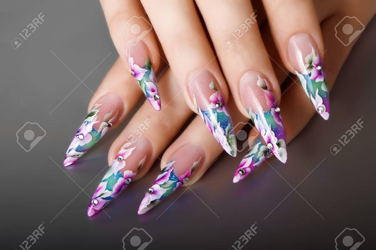 Female Nails Design. Stock Photo, Picture And Royalty Free Image ...