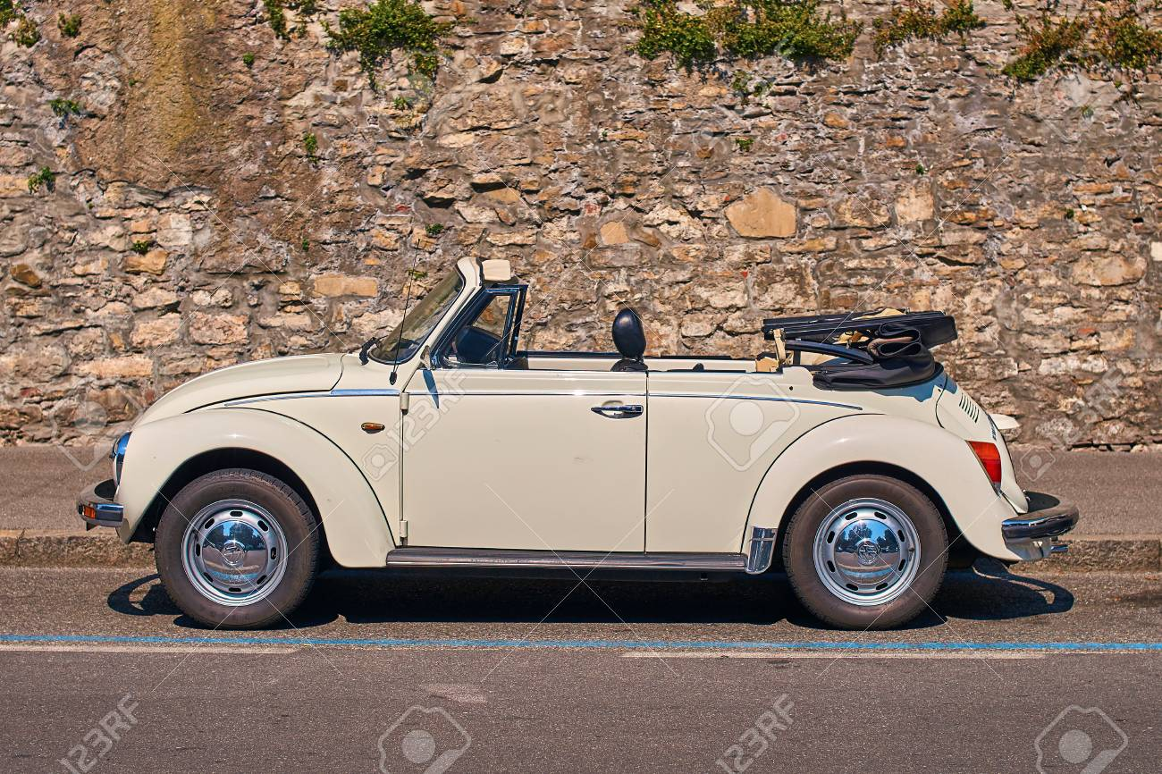 Vintage White Volkswagen Vw Beetle Cabriolet Car Volkswagen Type Stock Photo Picture And Royalty Free Image Image 104861460