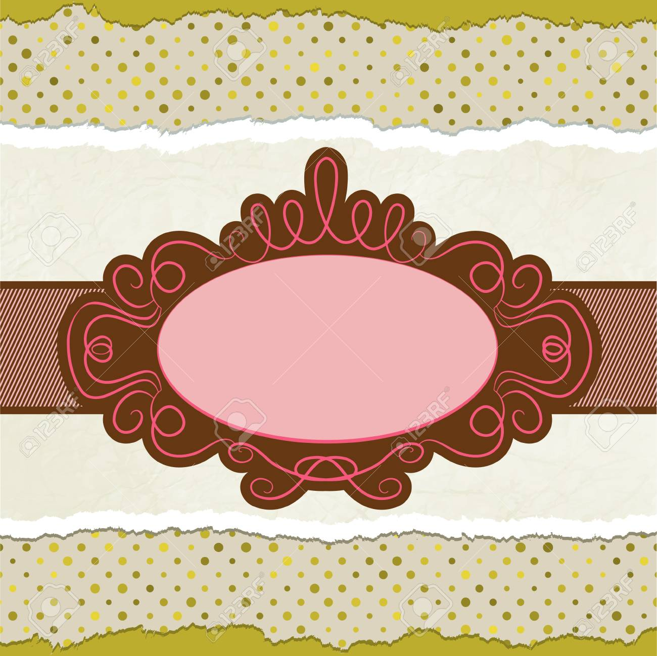 Vintage card template with copy space. EPS 8 Stock Vector - 12190840