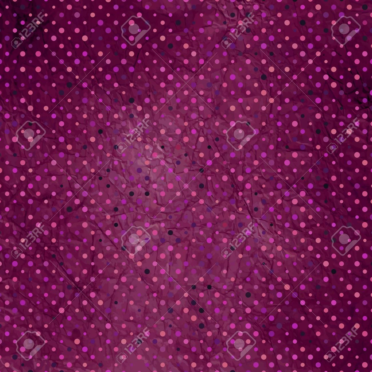 Aged and worn paper with polka dots Stock Vector - 13609747
