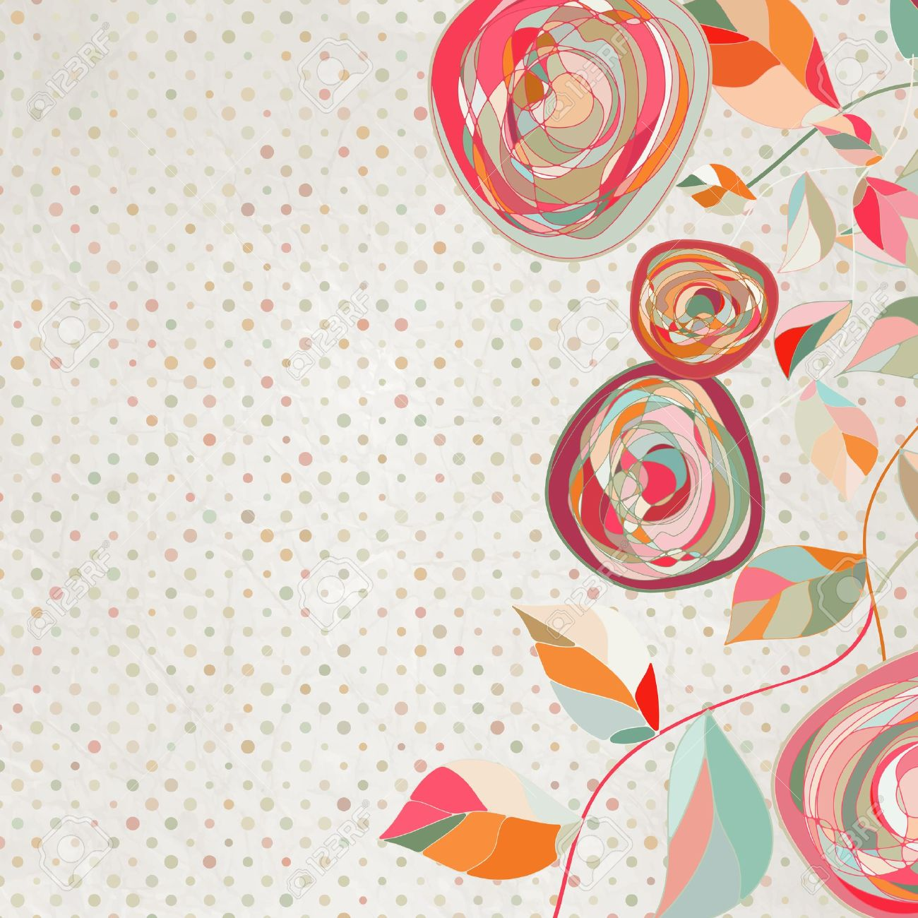 intage Flower Template, Floral Background EPS 8 Royalty Free ...