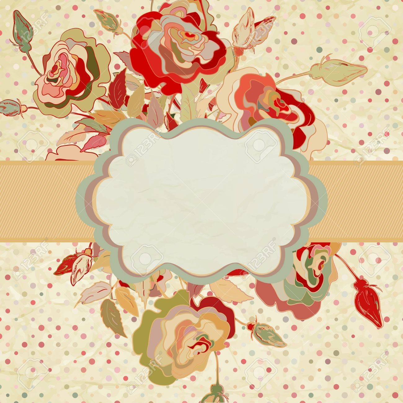 Stylish vintage floral background Stock Vector - 15017374