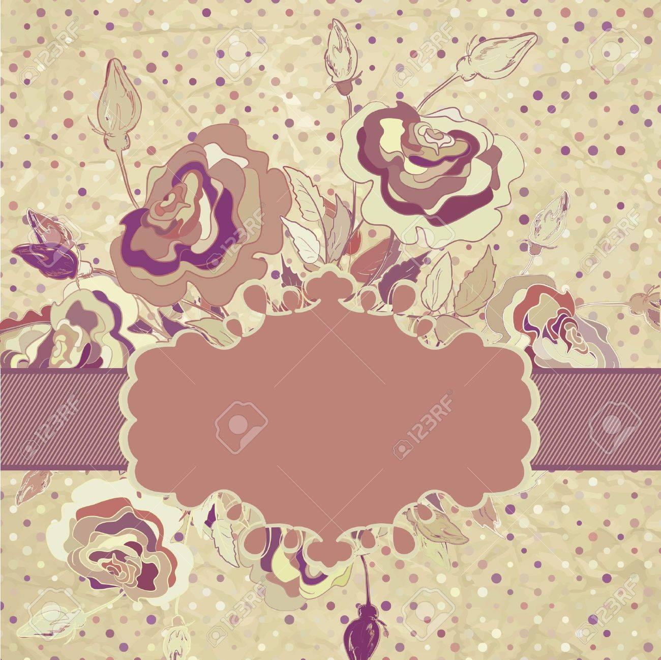 Pretty vintage style flower Stock Vector - 15274381