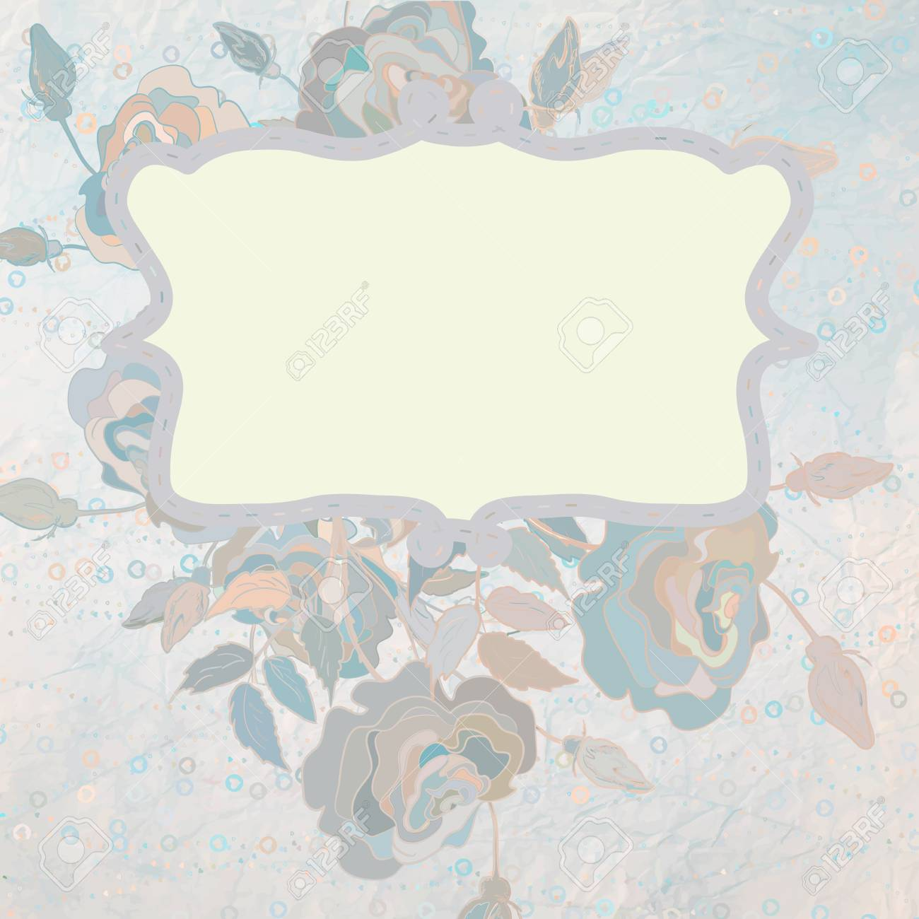 Floral style background design Stock Vector - 15274415