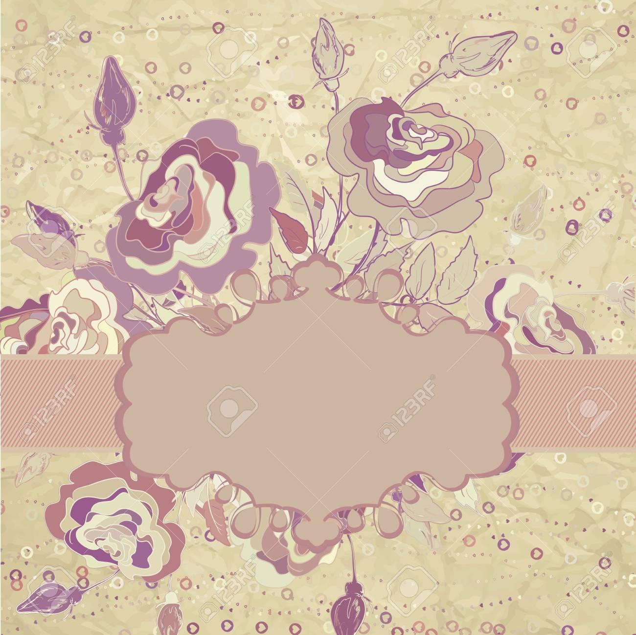 Valentine s card template design Stock Vector - 15401682