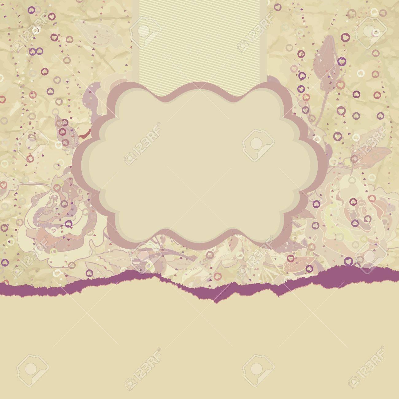 Grunge romantic flower in vintage style Stock Vector - 15471389