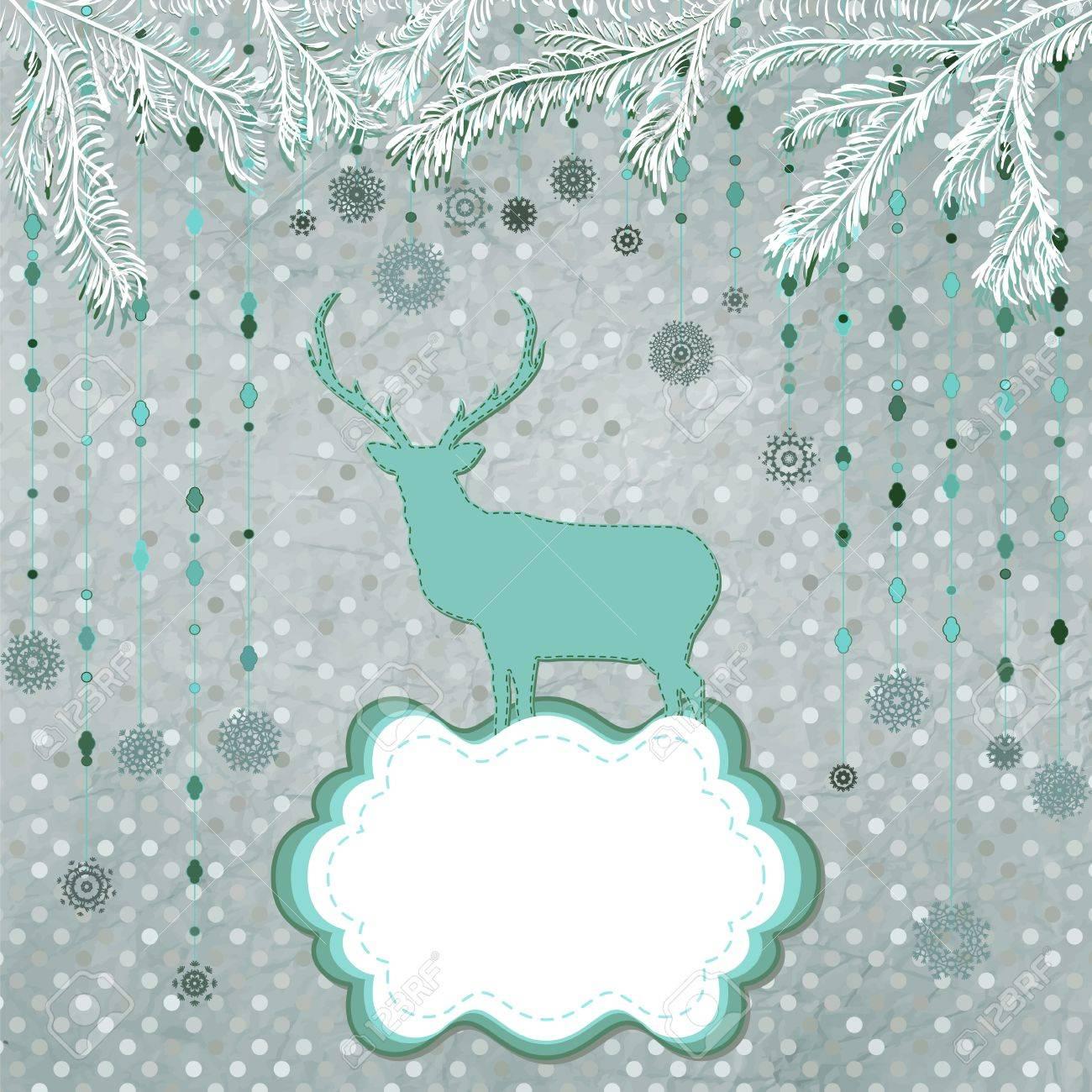 Invitación Tarjeta De Navidad Plantilla Ilustraciones Vectoriales ...