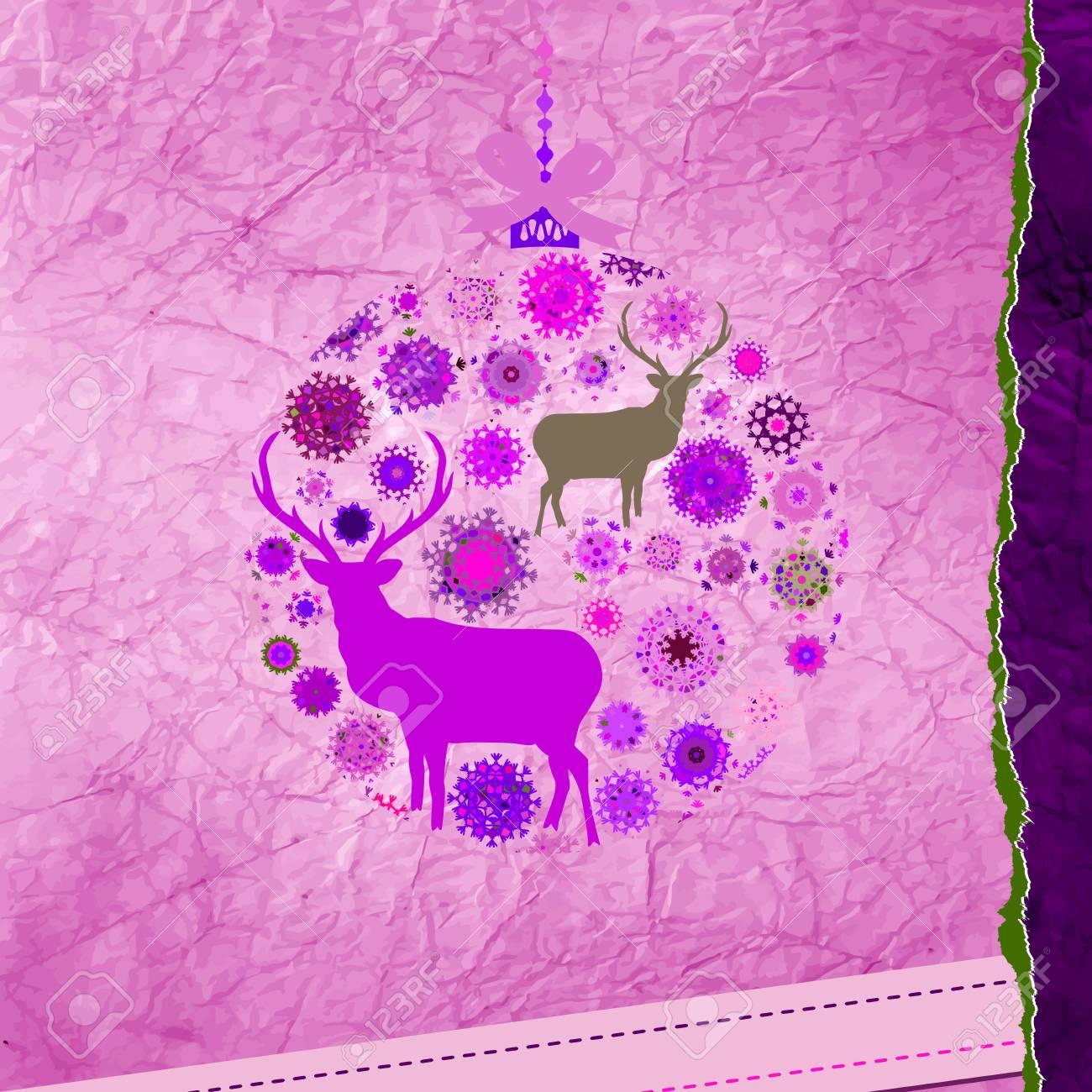 Christmas Invitation card template Stock Vector - 16641357