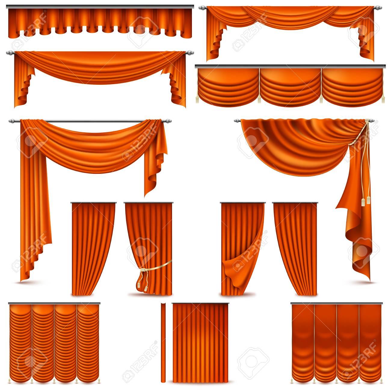 Objet De Decoration D Interieur De Rideaux Et Tentures Isole Sur