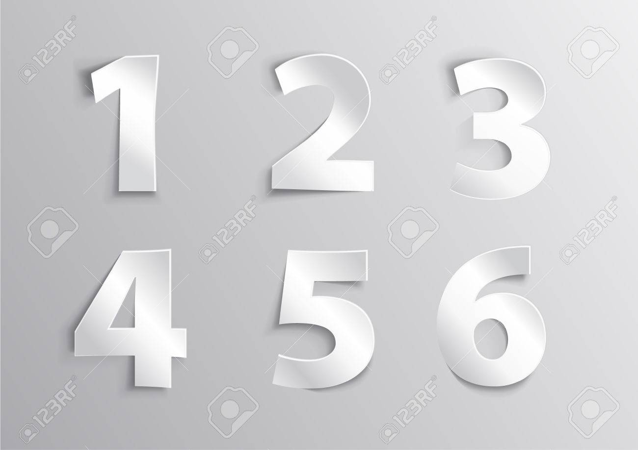 alphabet white number letter with shadow 1 2 3 4 5 6 royalty