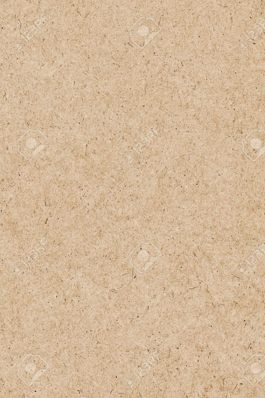 photograph of recycle pale ochre kraft paper coarse grain grunge
