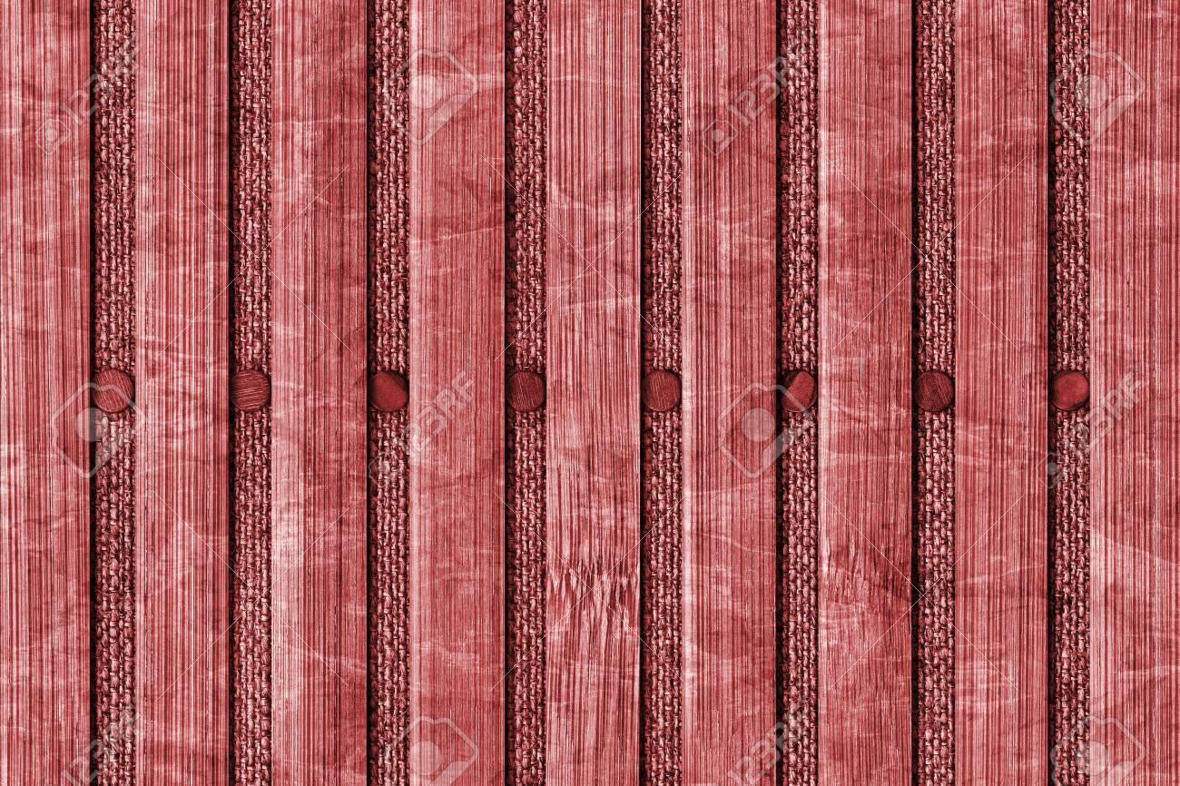 Fotografie Von Bambus Tischset Red Stained Blass Und Fleckig
