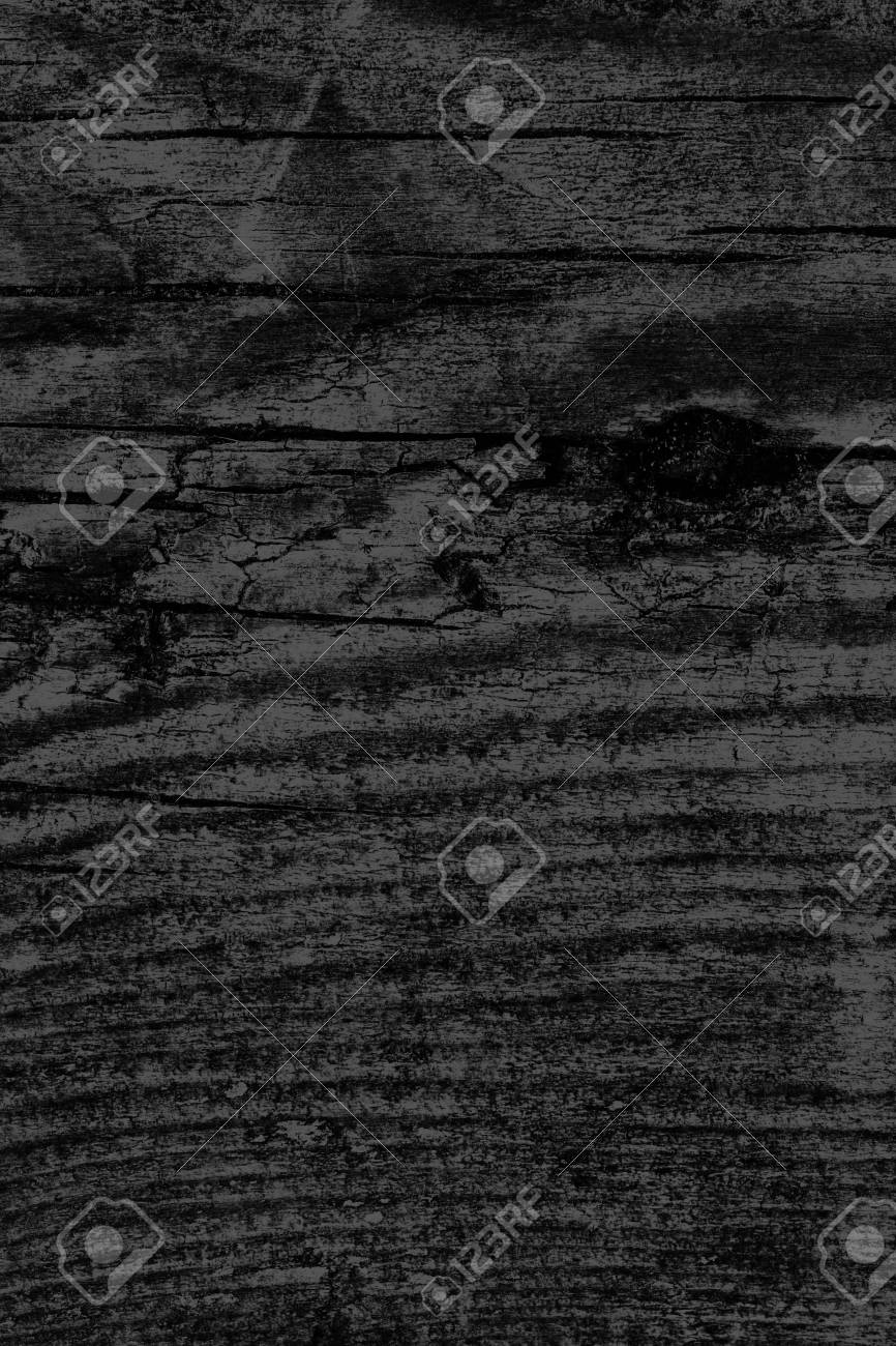 Old black stained wood grunge texture
