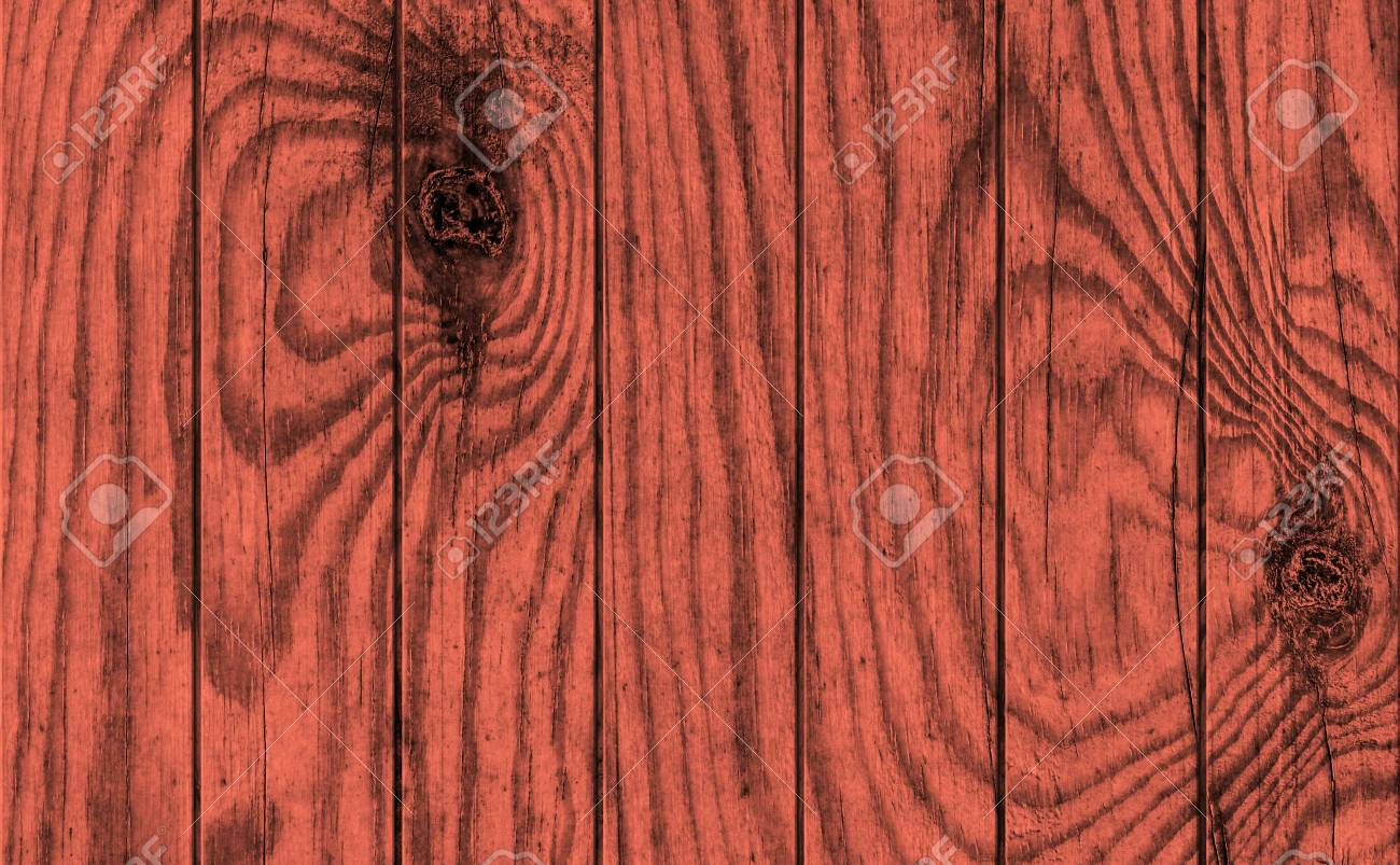Old Weathered Cracked Knotted Maroon Red Pine Wood Flooring Rustic Grunge Texture Stock Photo