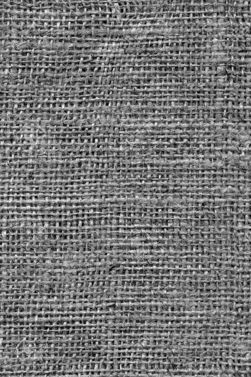 High Resolution Gray Burlap Canvas Coarse Grain Grunge Background Texture Stock Photo