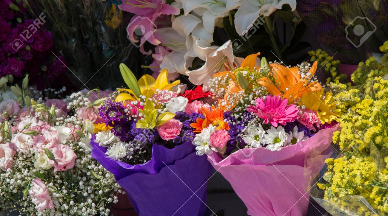 Beautiful flowers of various types in a flower in vase stock photo beautiful flowers of various types in a flower in vase stock photo 85554018 izmirmasajfo