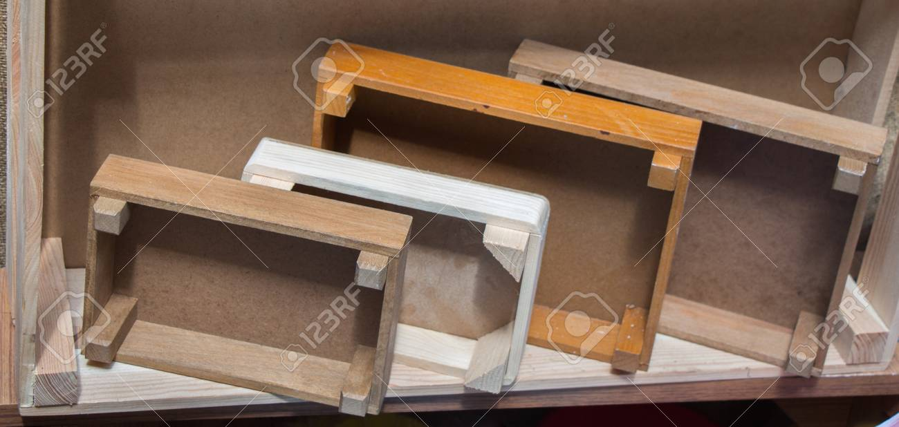 Colorful Wooden Crate Boxes For Sale In A Market Stock Photo
