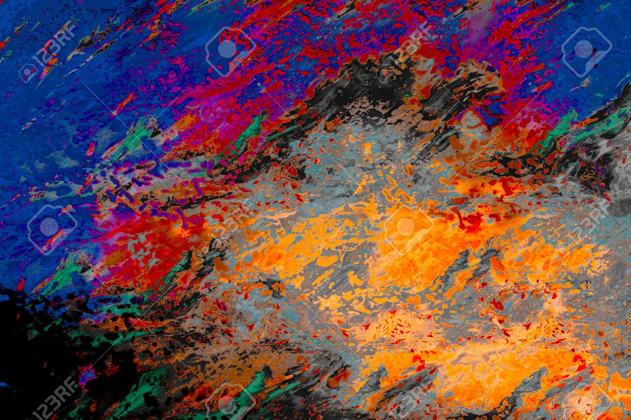 Abstract marbling art patterns - 123821082