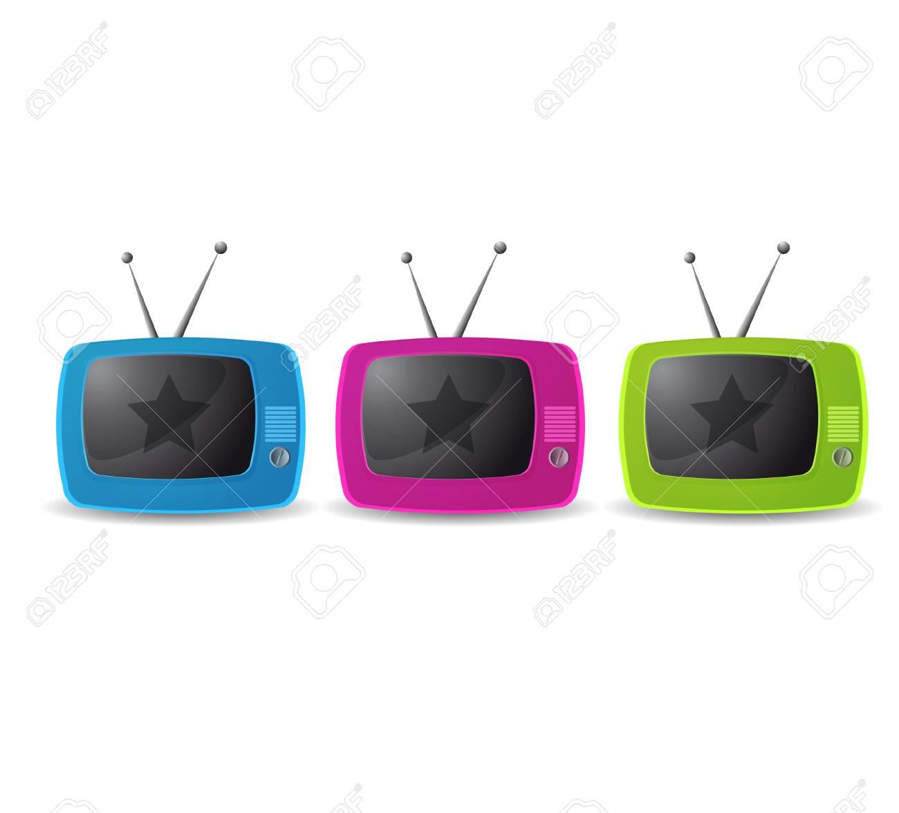 Cute retro tv vector Stock Vector - 10172583