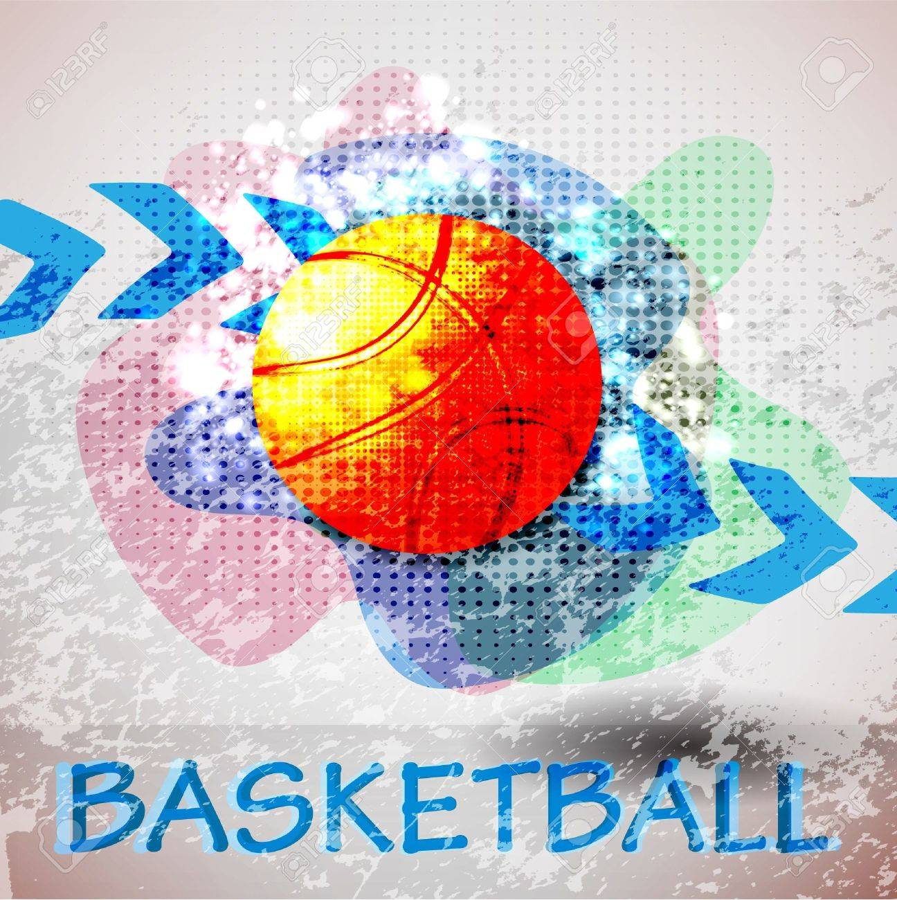 basketball advertising poster. Stock Vector - 10776181