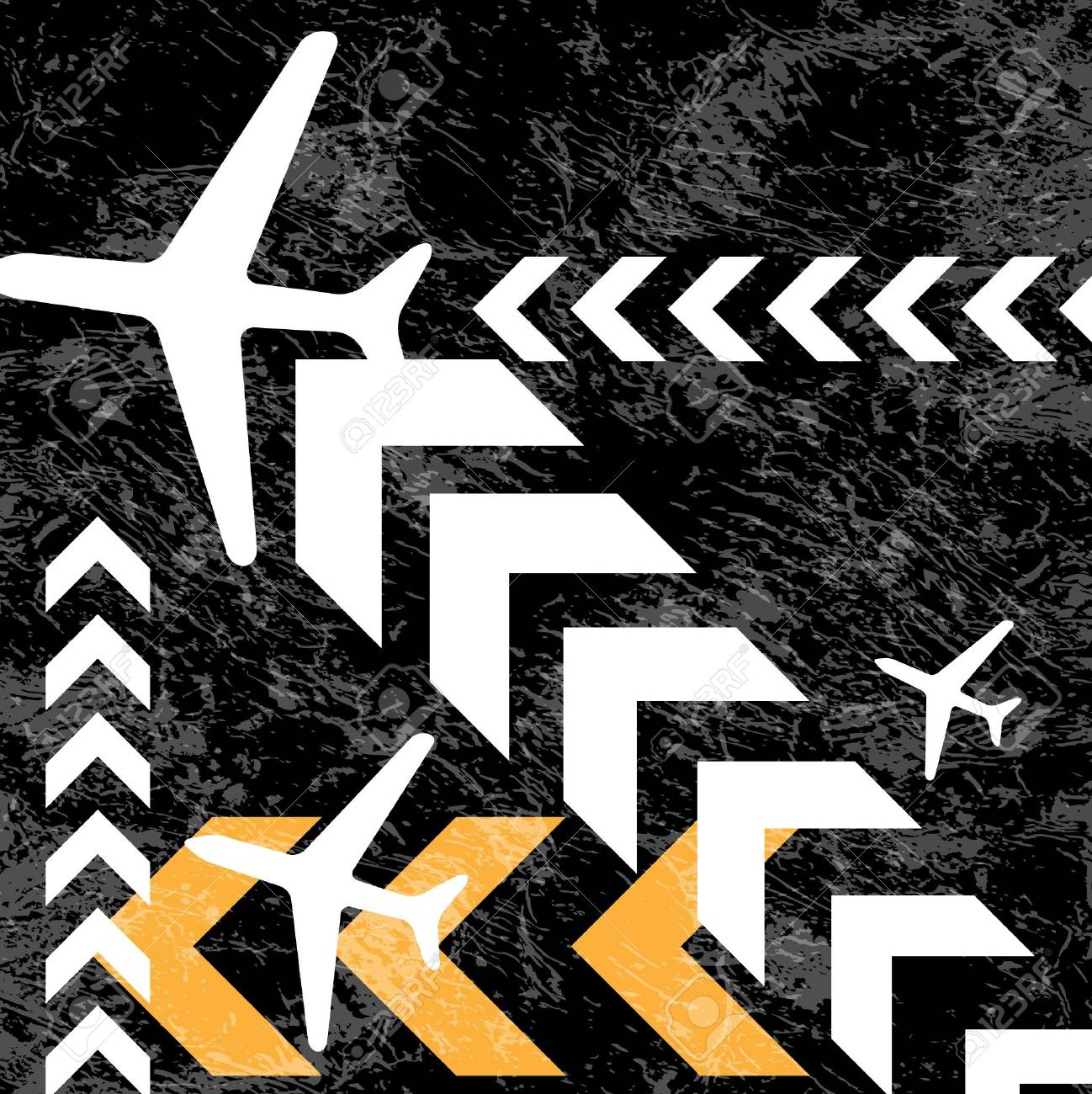 Vector Illustration of Airplane Routes Stock Vector - 12658655