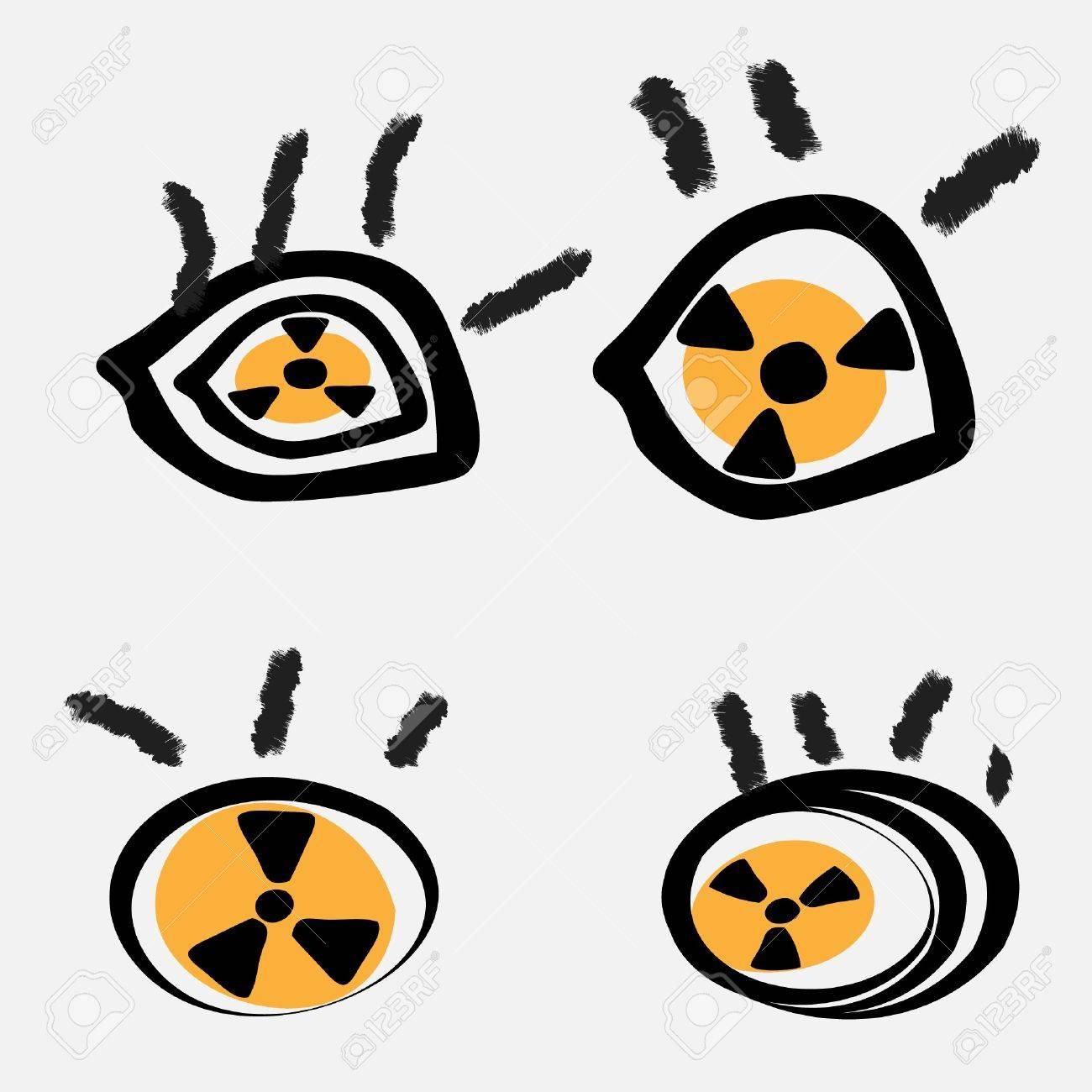 eye radiation Stock Vector - 12658639