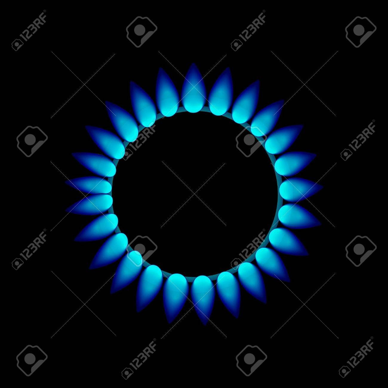 flames of gas Stock Vector - 12983917