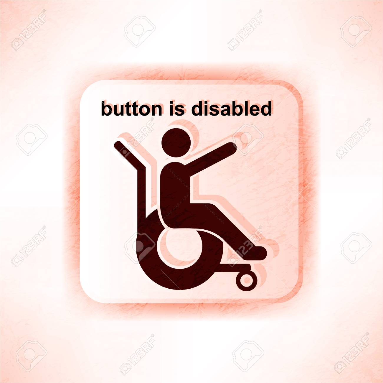 disabled person sign Stock Vector - 14240977