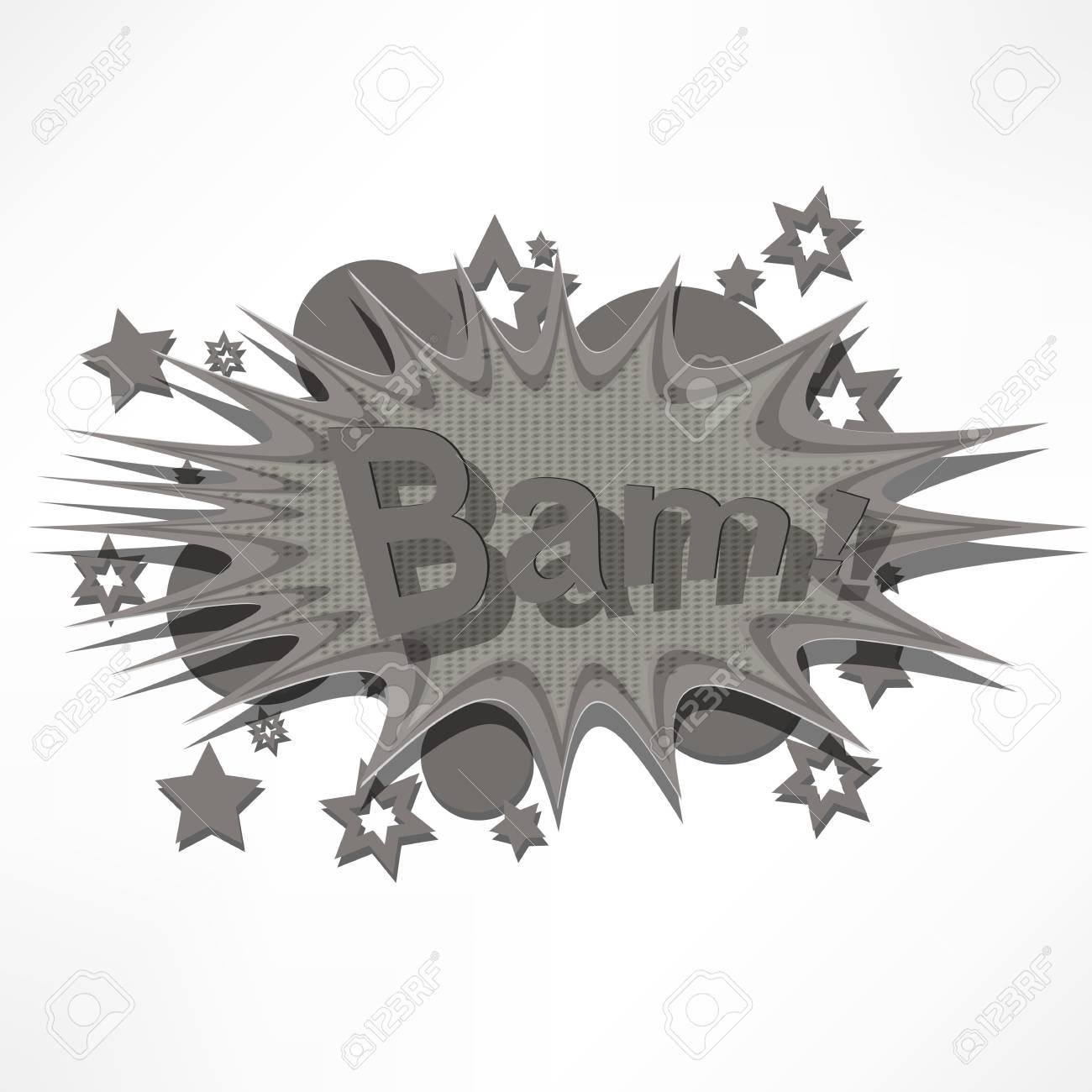 Bam. Comic book explosion. Stock Vector - 15776424