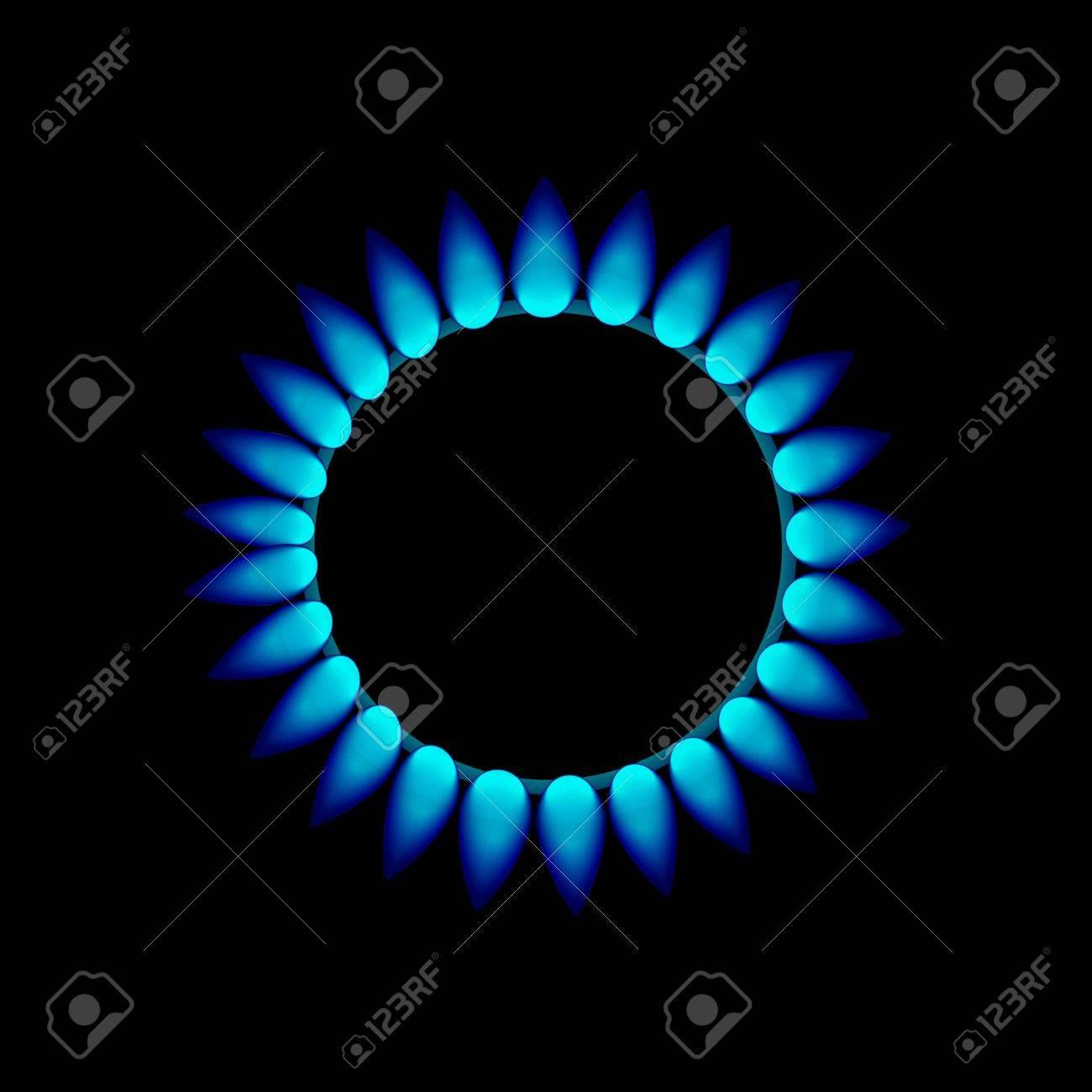 vector flames of gas Stock Photo - 15885524