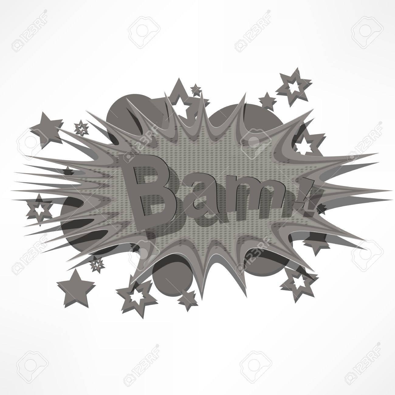 Bam. Comic book explosion. Stock Photo - 16168818