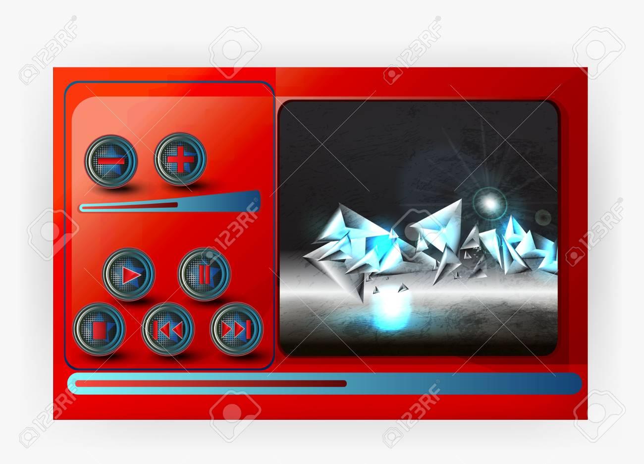 vector media player Stock Photo - 16168888