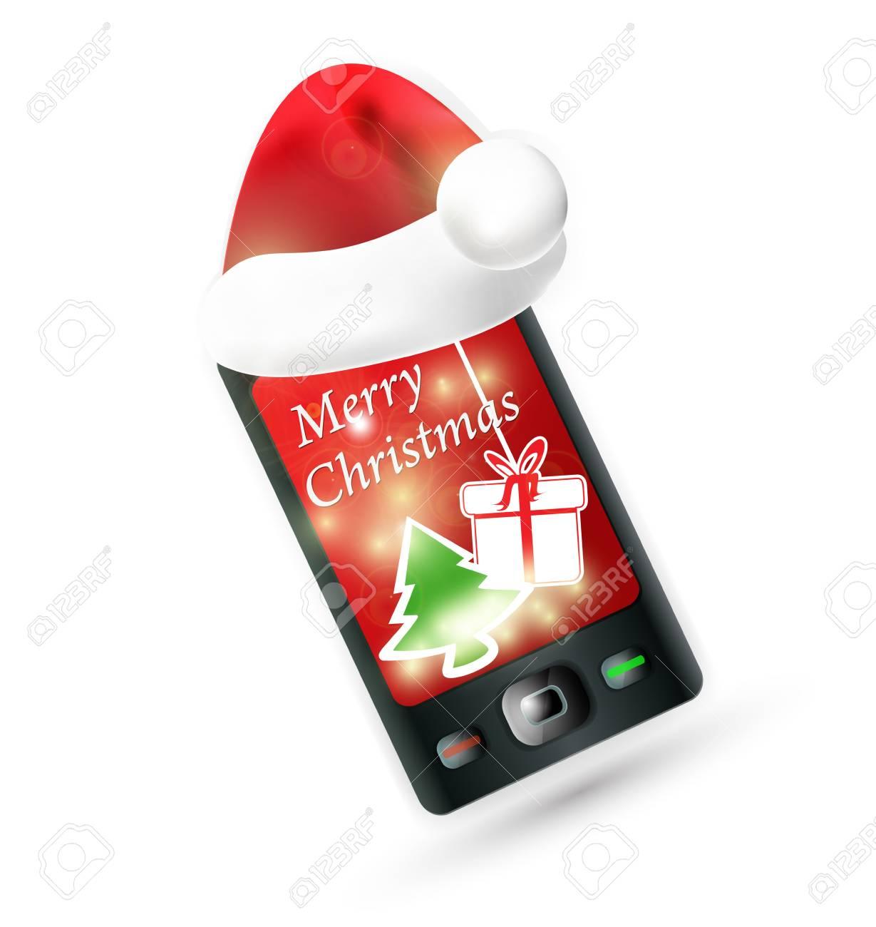 Mercredi 23 décembre 16538939-smartphone-avec-chapeau-rouge-du-p%C3%A8re-no%C3%ABl-t%C3%A9l%C3%A9phone-mobile-no%C3%ABl-vector-illustration-