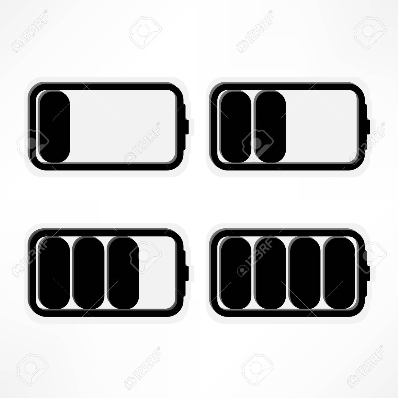 Set of battery charge level indicators  Vector illustration Stock Photo - 16538783