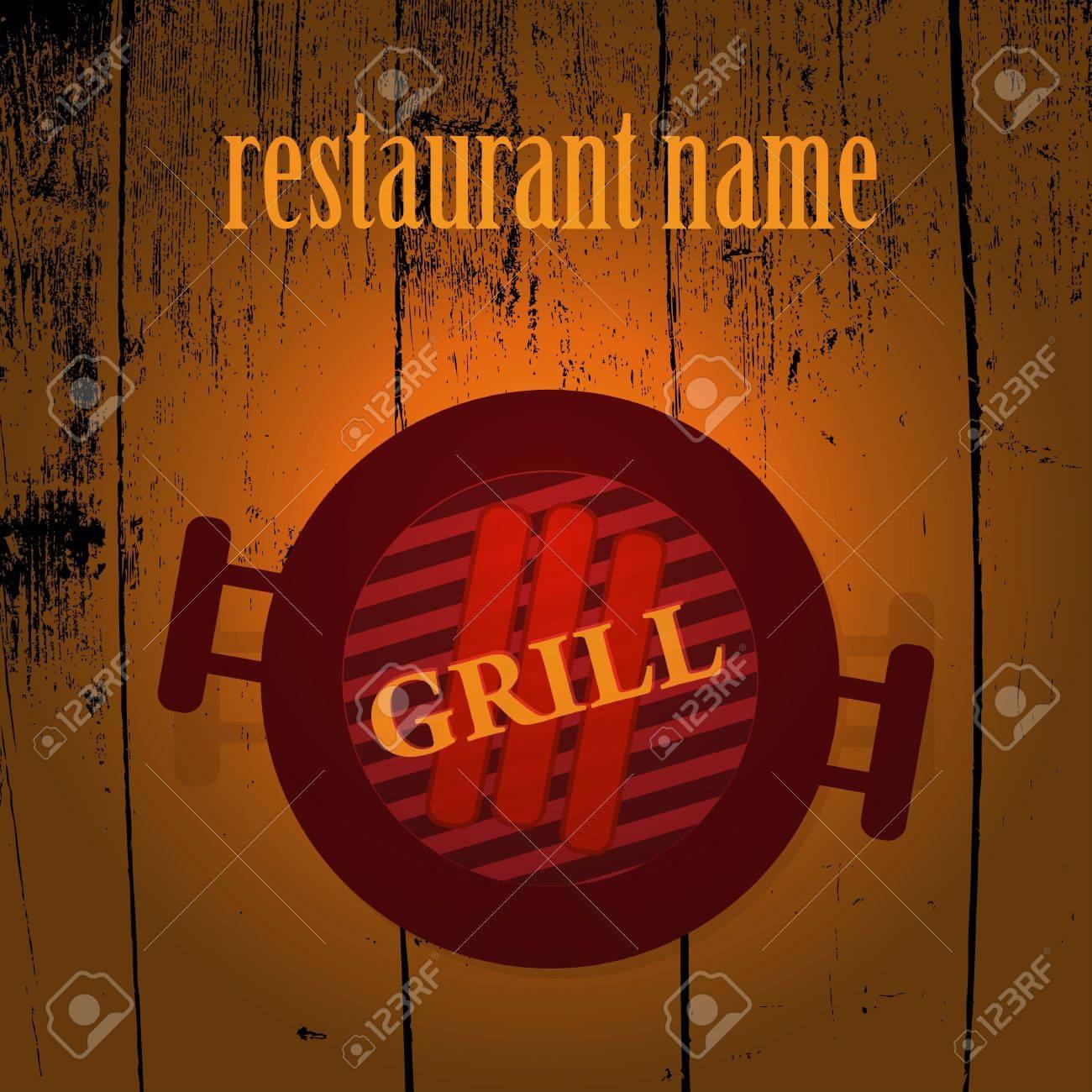 Grill menu Stock Vector - 17398192