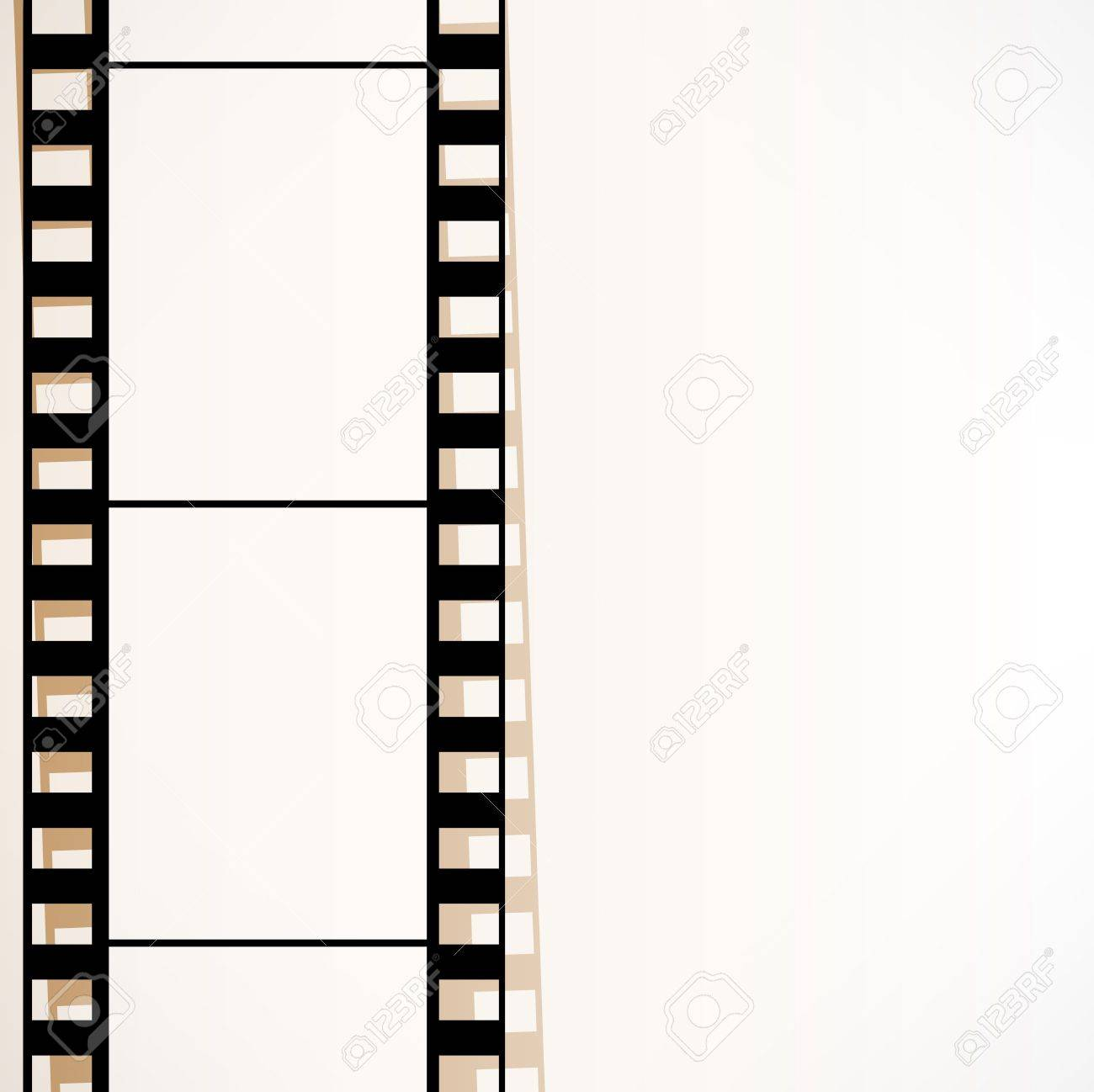 Old Filmstrip. Movie Ending Frame. Royalty Free Cliparts, Vectors ...