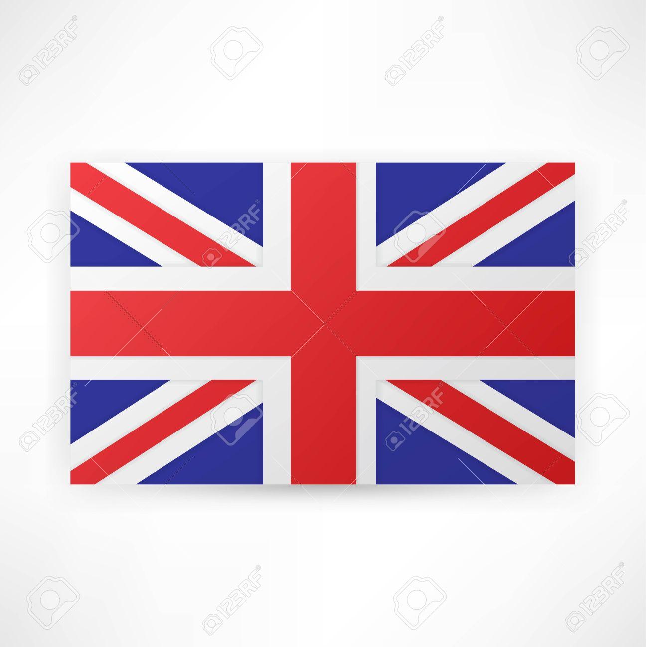 Flag London Background Stock Vector