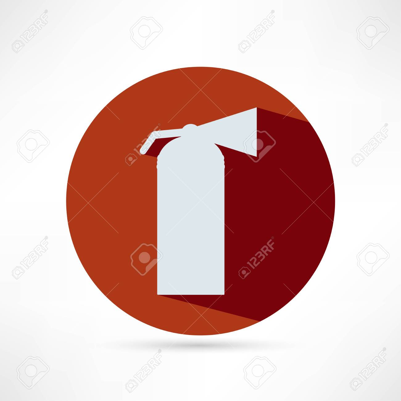 Fire extinguisher isolated on a white background Stock Vector - 25018745