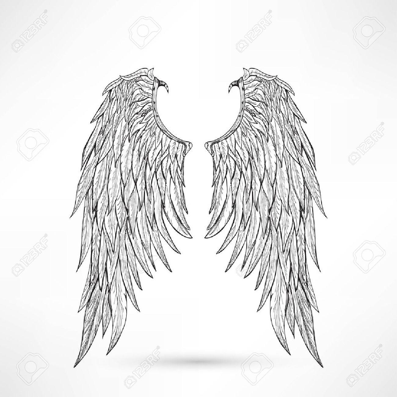 イラスト天使の翼のイラスト素材ベクタ Image 45446662