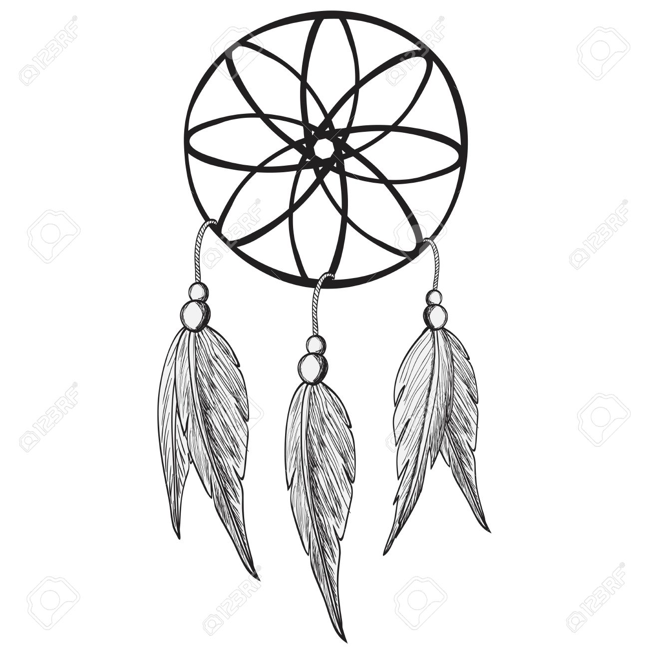 dreamcatcher vector illustration royalty free cliparts vectors rh 123rf com dream catcher vector art dream catcher vector
