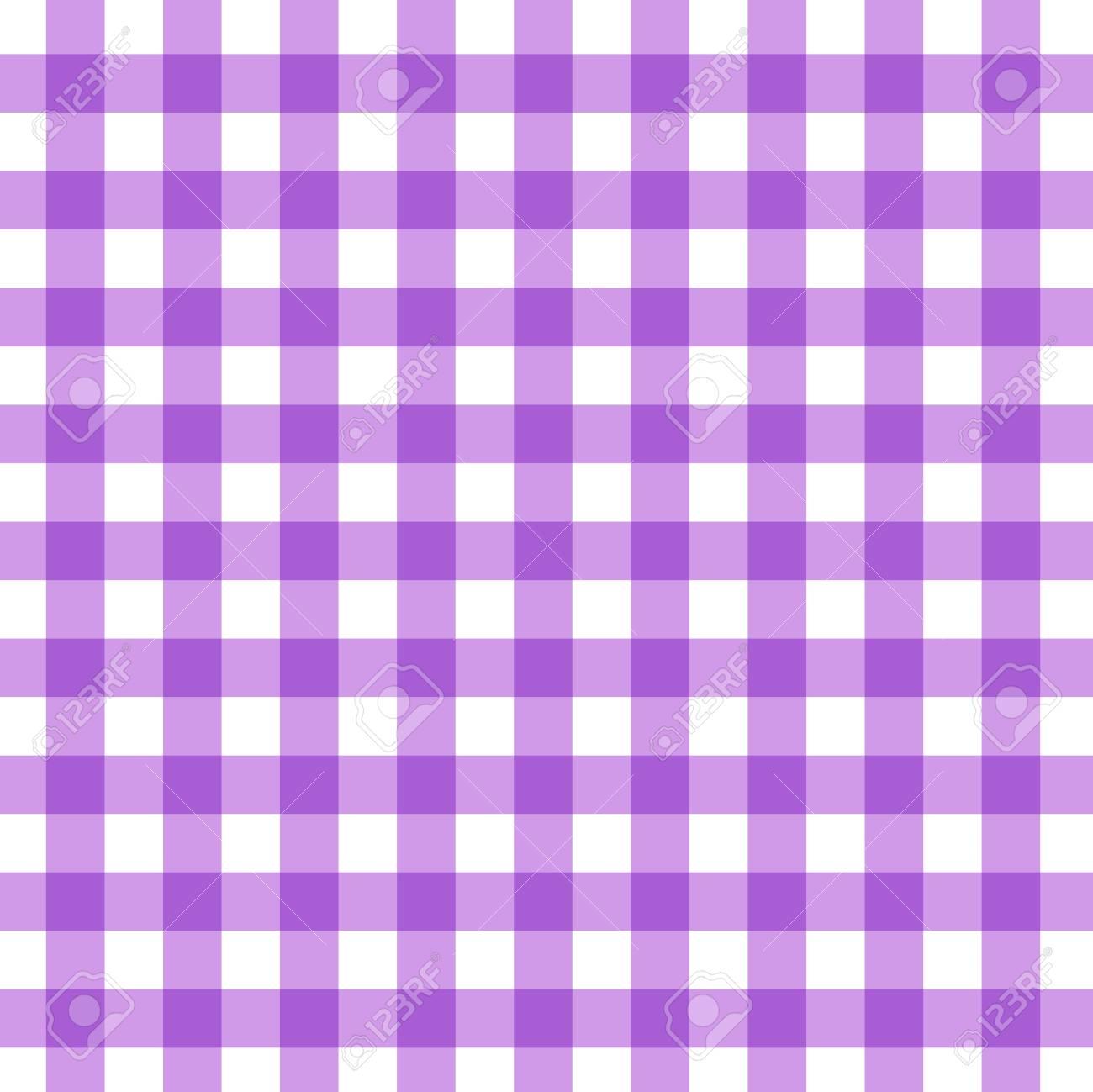 Ordinaire Tartan Plaid Seamless Pattern. Kitchen Checkered Purple Tablecloth Napkin  Fabric Background. Stock Vector