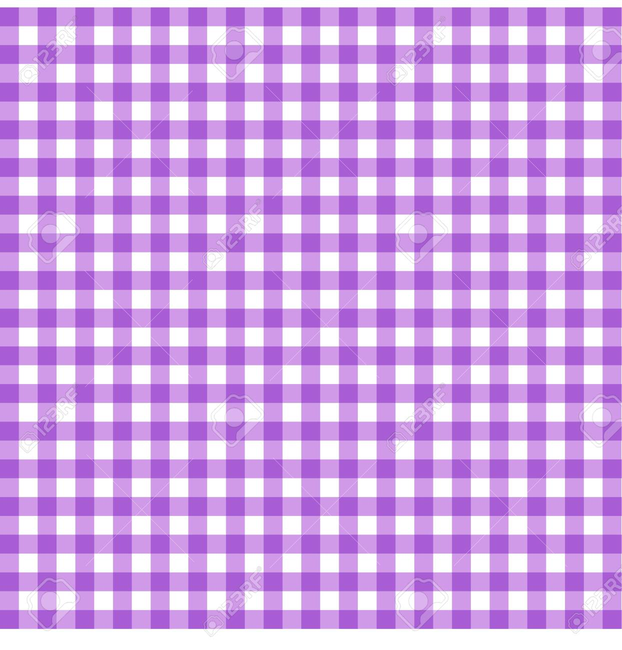 Tartan Plaid Seamless Pattern. Kitchen Checkered Purple Tablecloth Napkin  Fabric Background. Stock Vector
