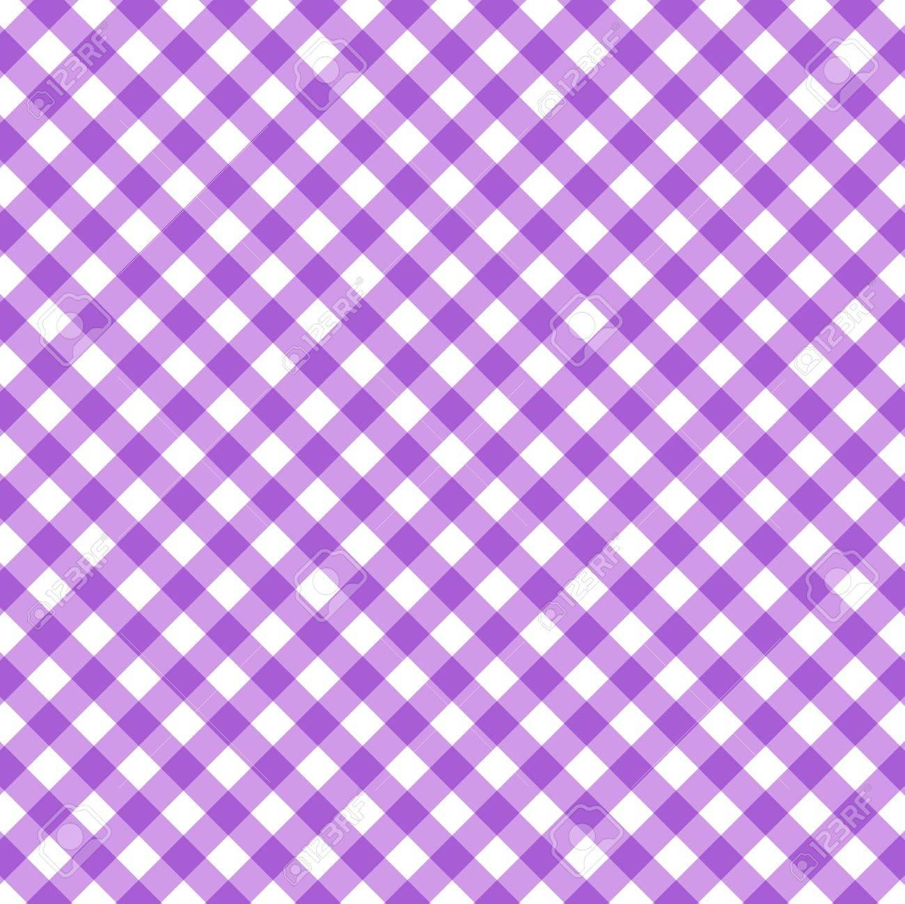 Genial Tartan Plaid Seamless Pattern. Kitchen Checkered Purple Tablecloth Napkin  Fabric Background. Stock Vector