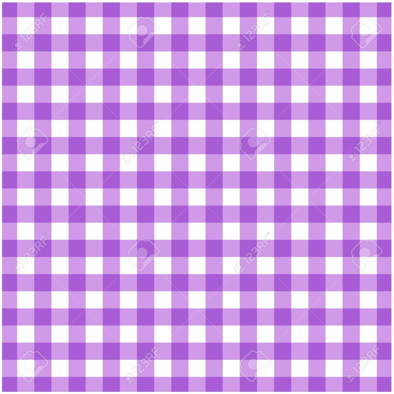 Attractive Tartan Plaid Seamless Pattern. Kitchen Checkered Purple Tablecloth Napkin  Fabric Background. Stock Vector