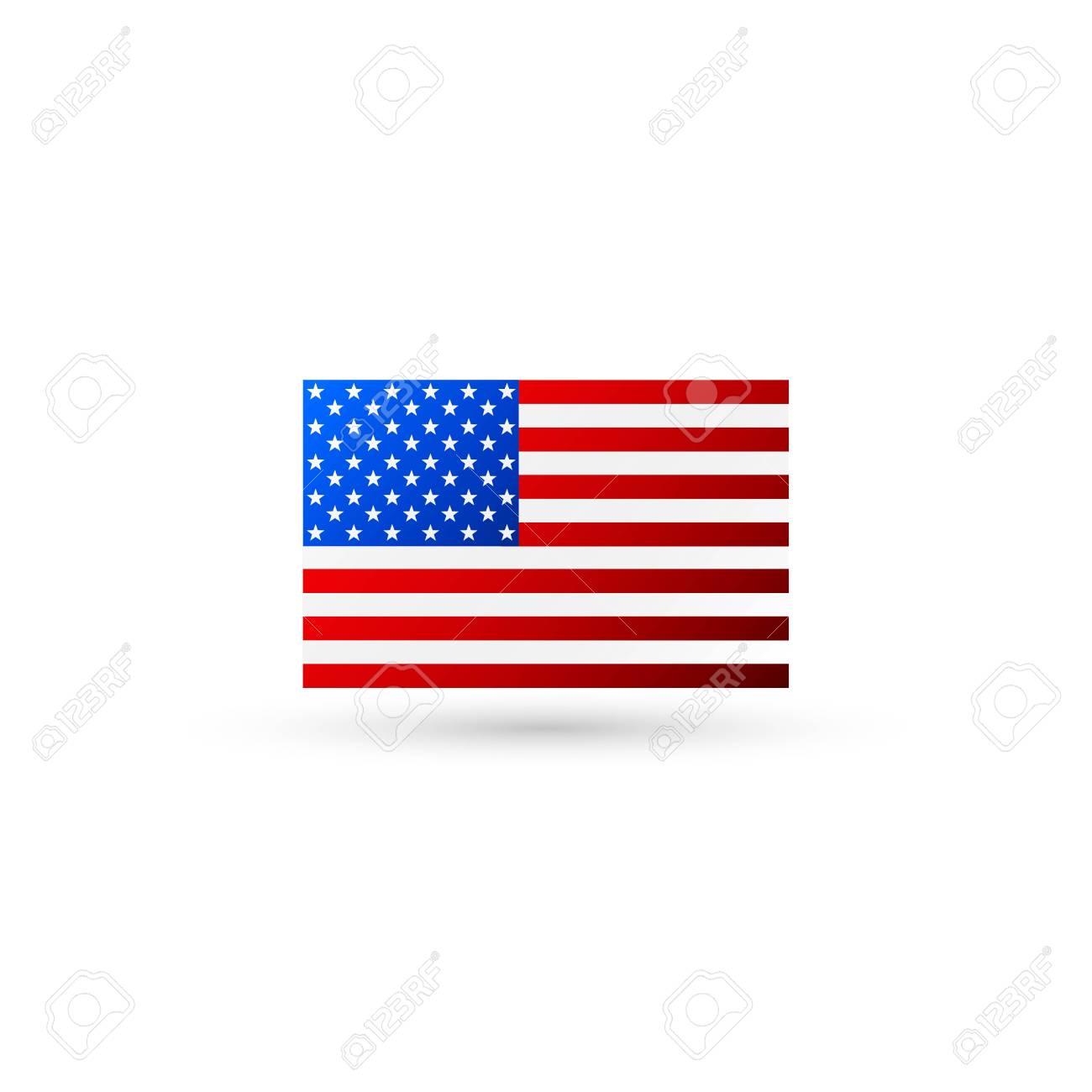 92eaeea949d American flag logo vector Stock Vector - 97404671