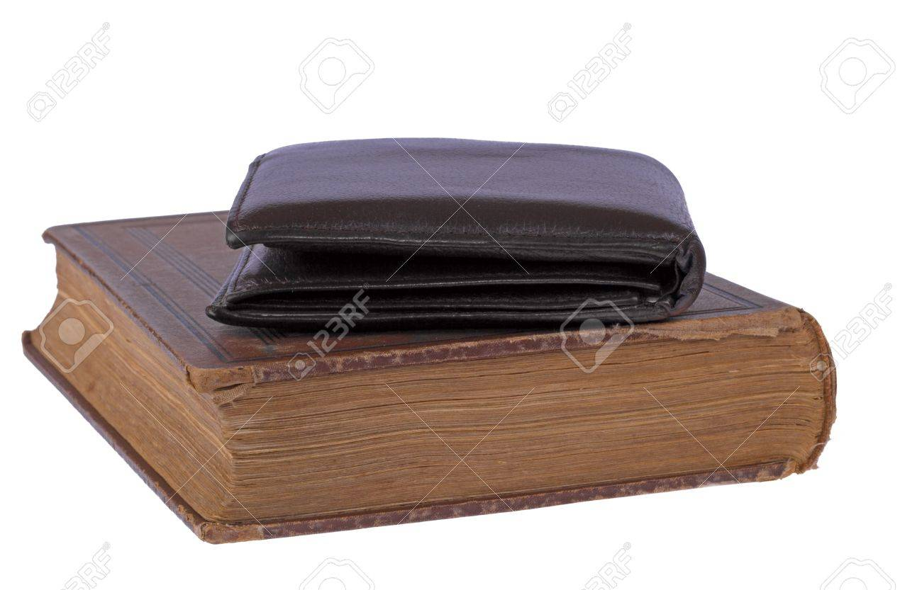 new style 1fe99 79f8b 昔の本の安い革財布